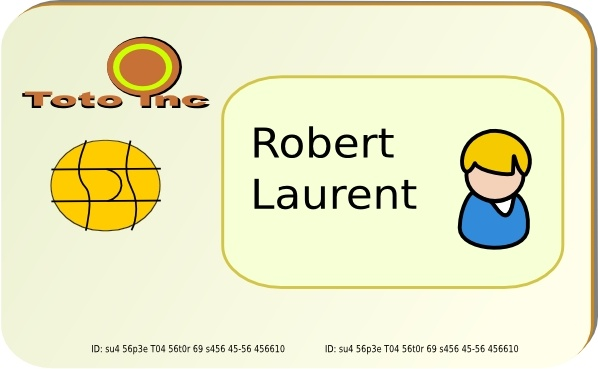 Id Card clip art Free vector in Open office drawing svg ( .svg.