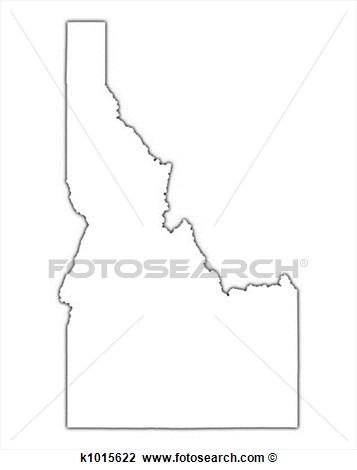 Idaho Shape Clipart.