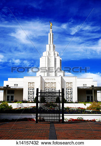 Stock Photo of Mormon Temple Idaho Falls k14157432.