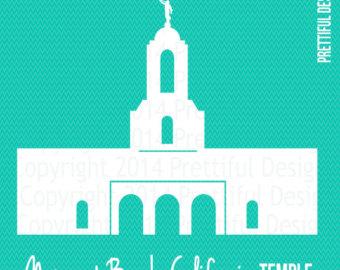 Idaho Falls Temple LDS Mormon Silhouette Clip Art png eps svg.