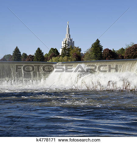 Stock Photography of Idaho Falls Landmark k4778171.