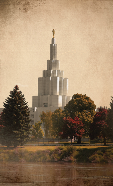 Idaho Falls Idaho Temple Recommend Holder in Temple.