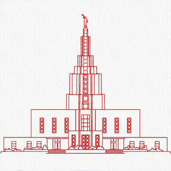 Idaho falls temple clipart.