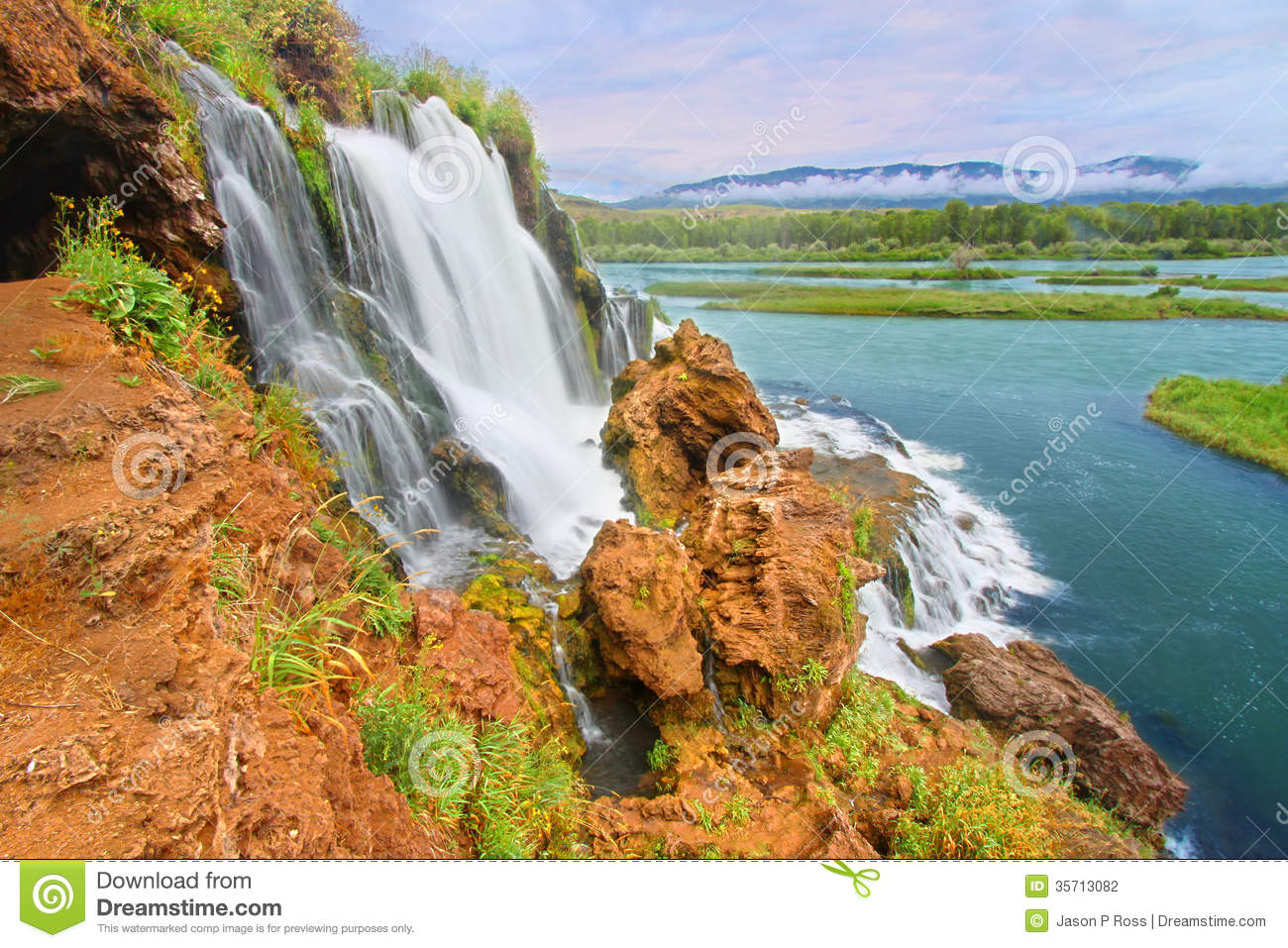 Caribou National Forest Waterfall Idaho Stock Photography.