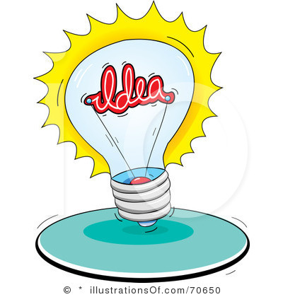 Light Bulb Idea Clip Art.