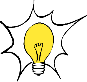 lightbulb thinking clipart #15