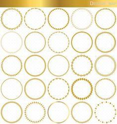 25 Colorful Circle Frames, Circle Frames Clip Art, Round Frame.