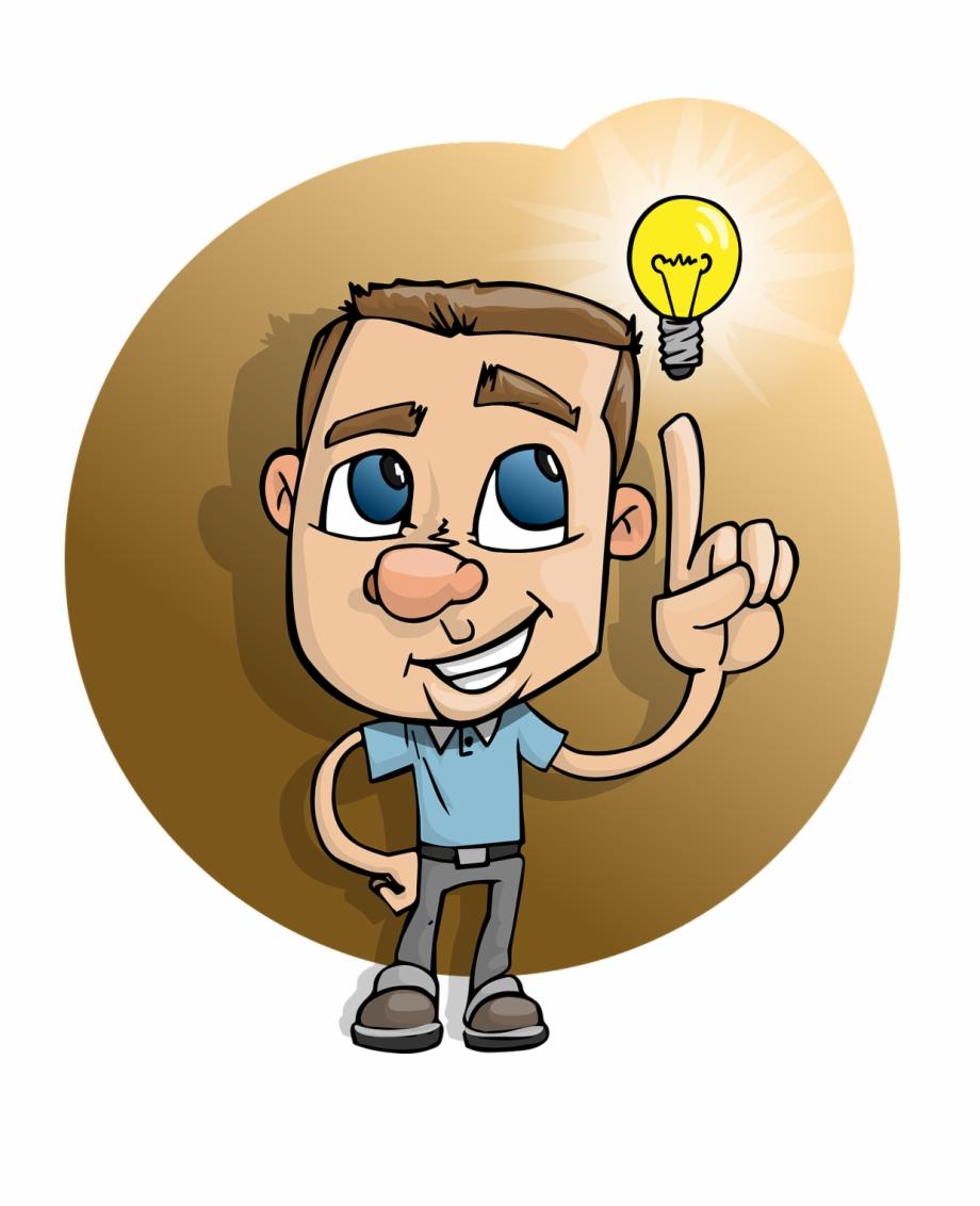 Boy Smart Idea Light Bulb Smiling Casual.