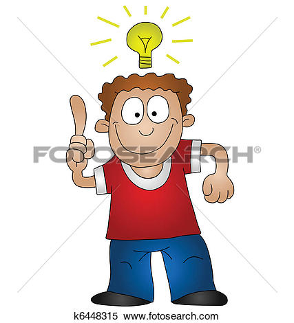 Clip Art of Bright Idea Insight k16290739.