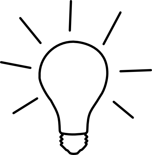 Idea Clipart Black And White.
