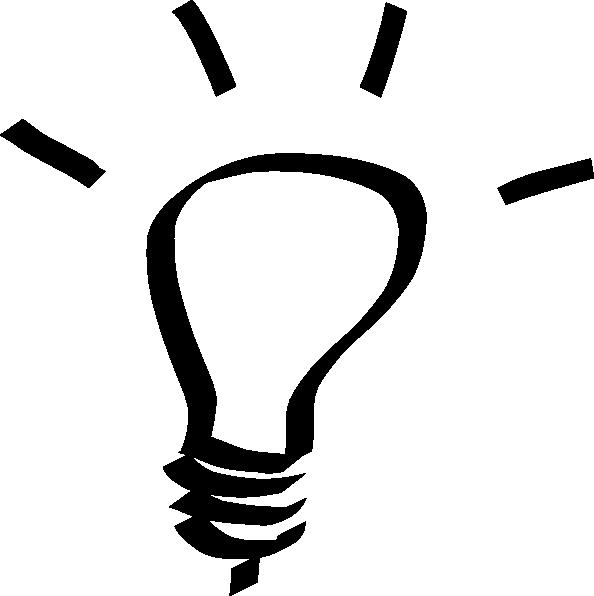 Idea Clipart Black And White.
