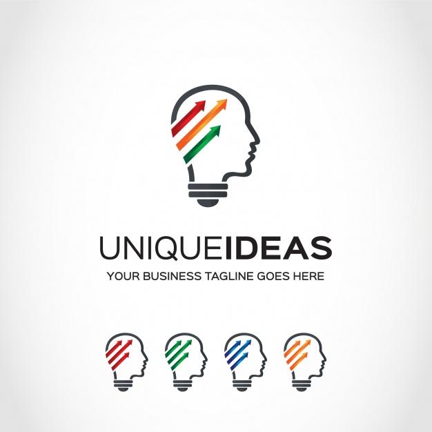 Idea logo design Vector.
