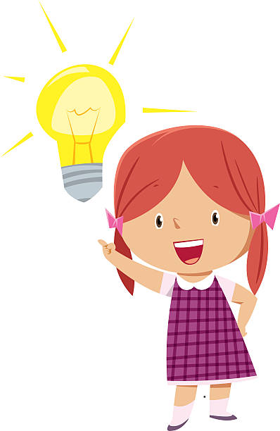 Child thinking idea clipart child pencil and in color idea.
