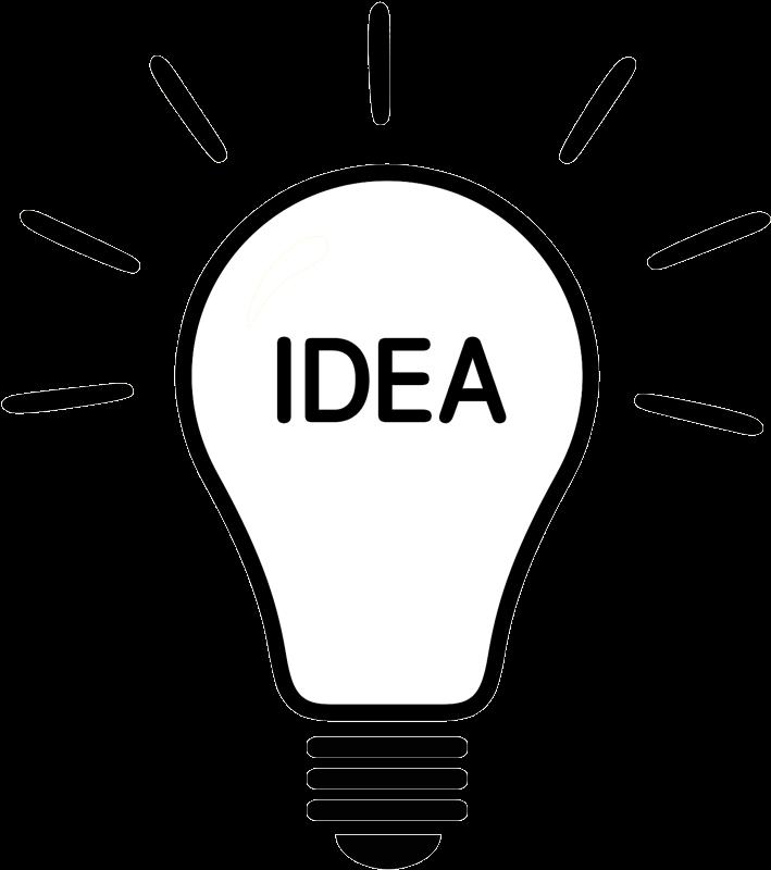 Light Bulb Idea Vector Clipart , Png Download , Transparent.