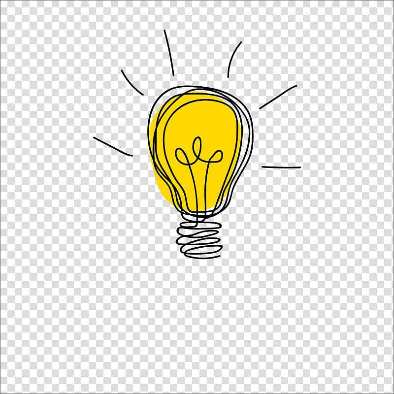Idea Drawing Icon, bulb transparent background PNG clipart.