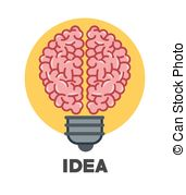 Clip Art Vector of Vector graphic of idea tree with colorful bulbs.