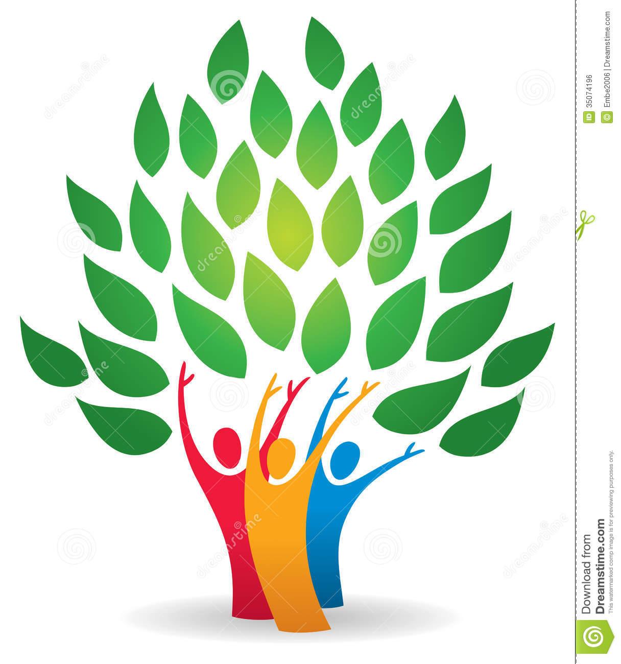 Family Tree Logo Royalty Free Stock Image.