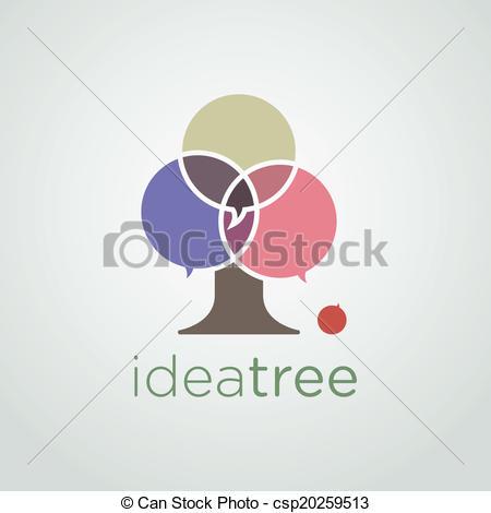 Vector Clip Art of Idea Tree.