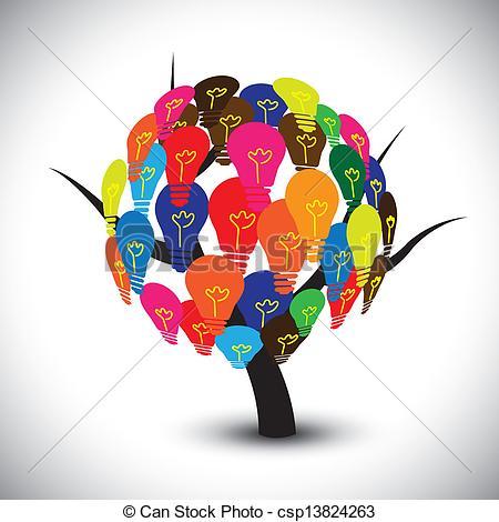 Idea Tree Clipart.