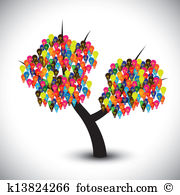 Fruit tree knowledge Clipart Vector Graphics. 25 fruit tree.