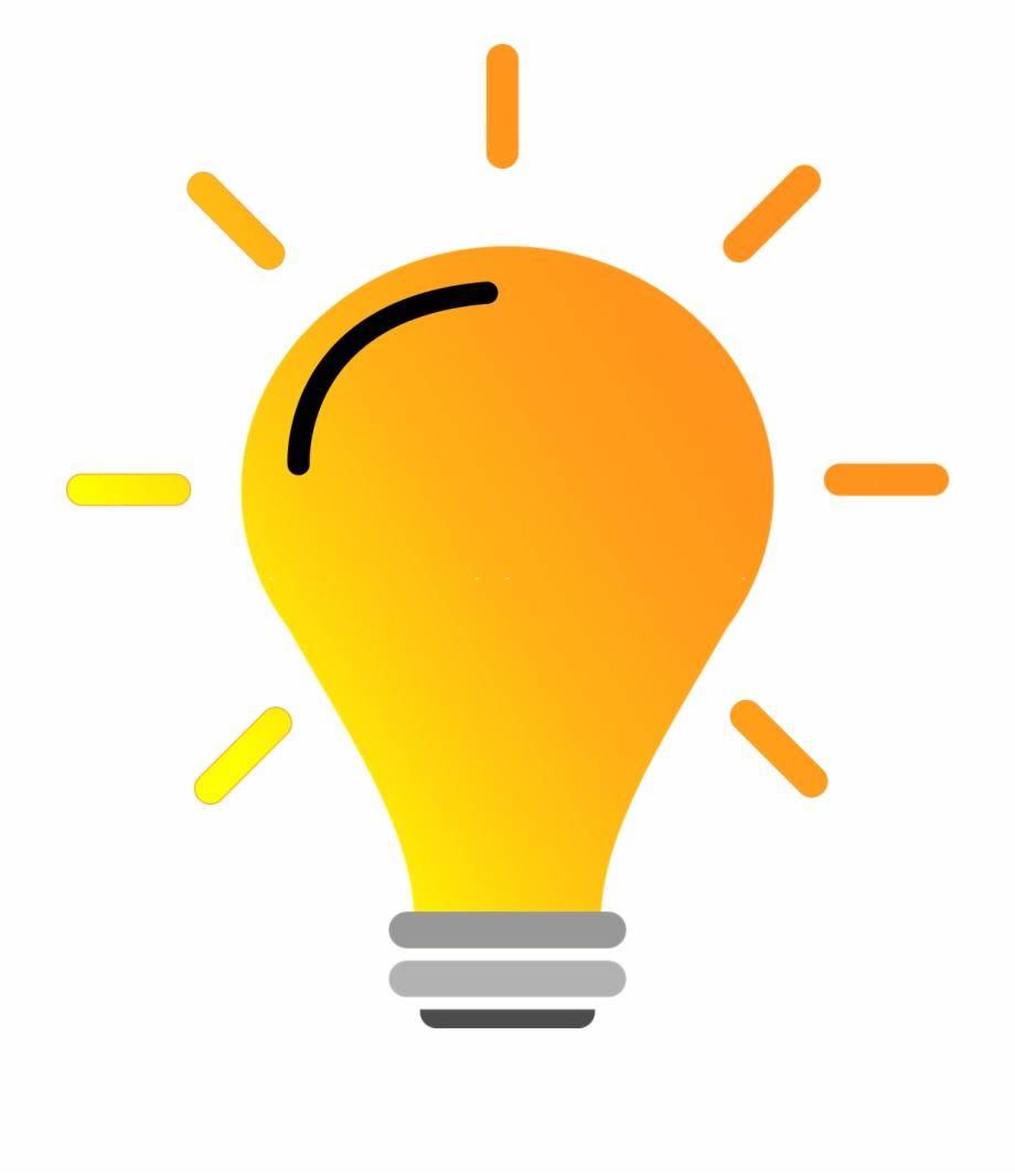Lightbulb Bright Yellow Light Vector Idea.