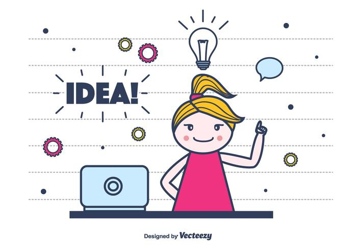 Idea Vector Background.