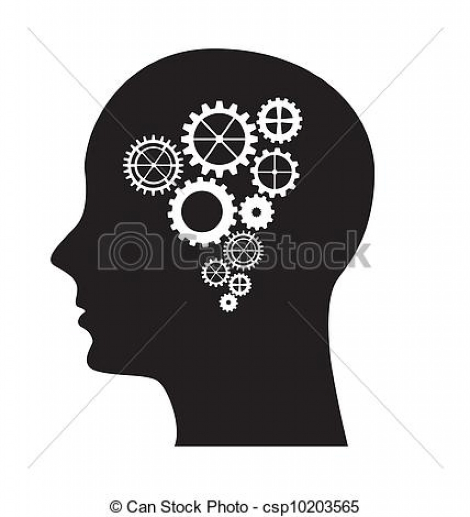 Brain With Gears Clipart.