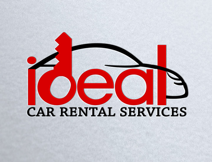 Logo Design: Ideal Car Rentals.