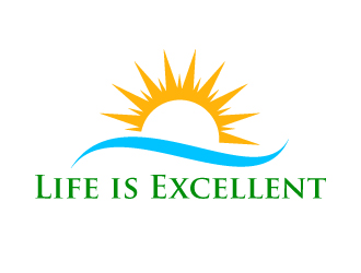 Life is Excellent logo design.
