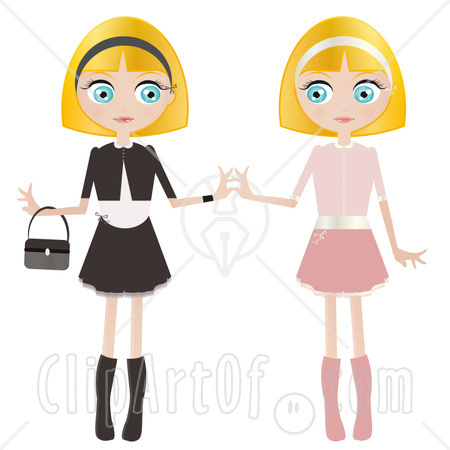 Identical Twins Clipart.