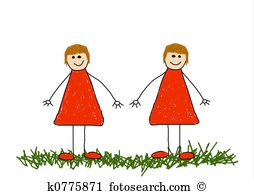 Identical twin Illustrations and Clipart. 25 identical twin.