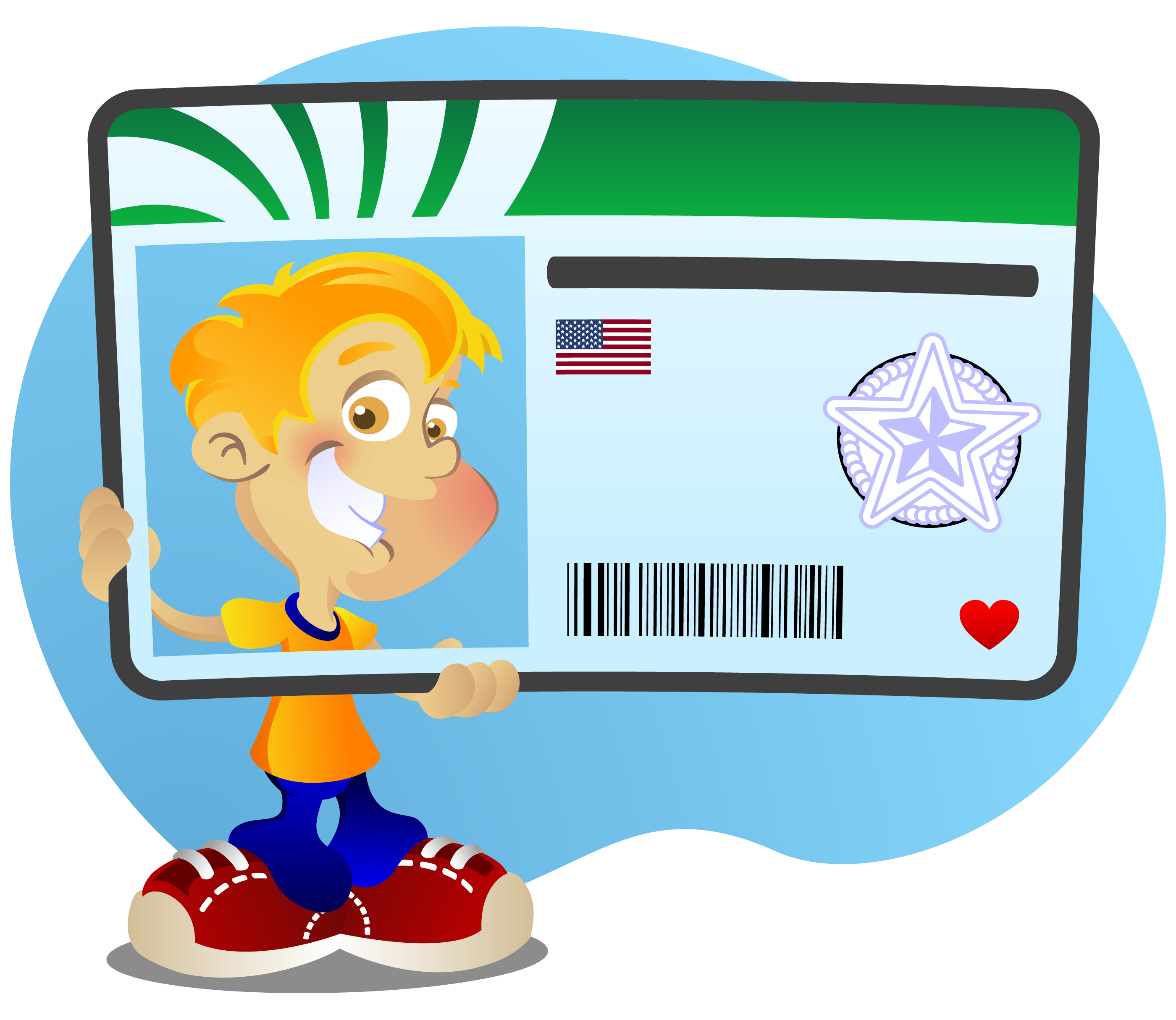 Kids ID Card Clipart.