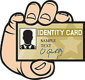 Identification card clipart.