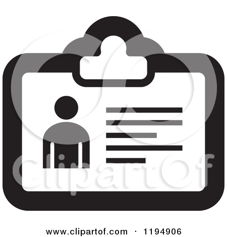 Clipart of a Hand Holding an Id Card.