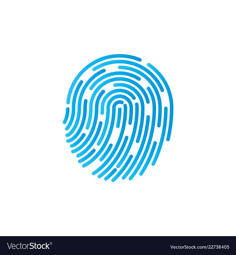 Identification symbol fingerprint icon vector image.