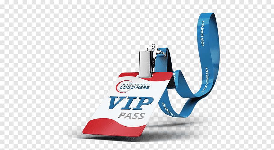Logo Here VIP pass identification card, Mockup Name tag.