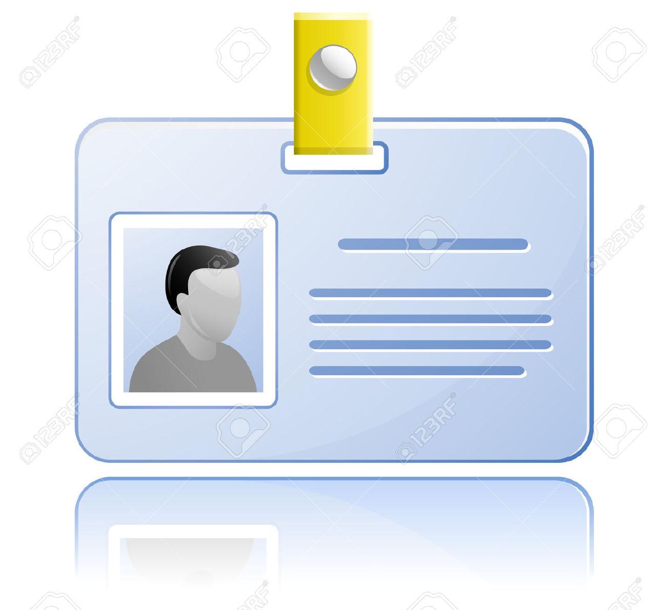 ID Card Clip Art.