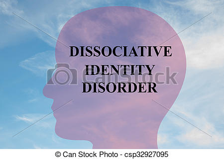 Stock Illustration of Dissociative Identity Disorder concept.