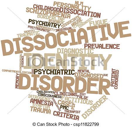 Stock Illustration of Dissociative identity disorder.
