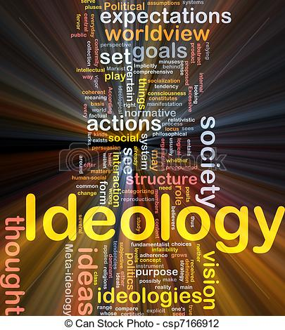 Clip Art of Ideology background concept glowing.