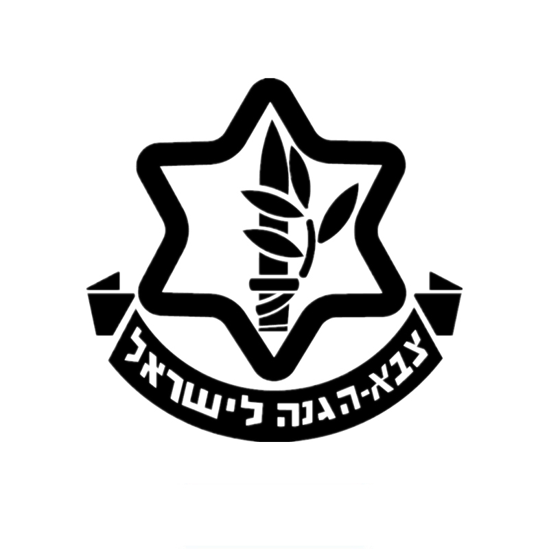 15*14.5cm Israel defense forces IDF car sticker decals Israeli Army Unit  Hebrew The Jews Jewish.