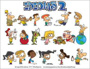 Idioms 2 Cartoon Clipart.