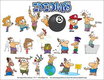 Idioms Cartoon Clipart.