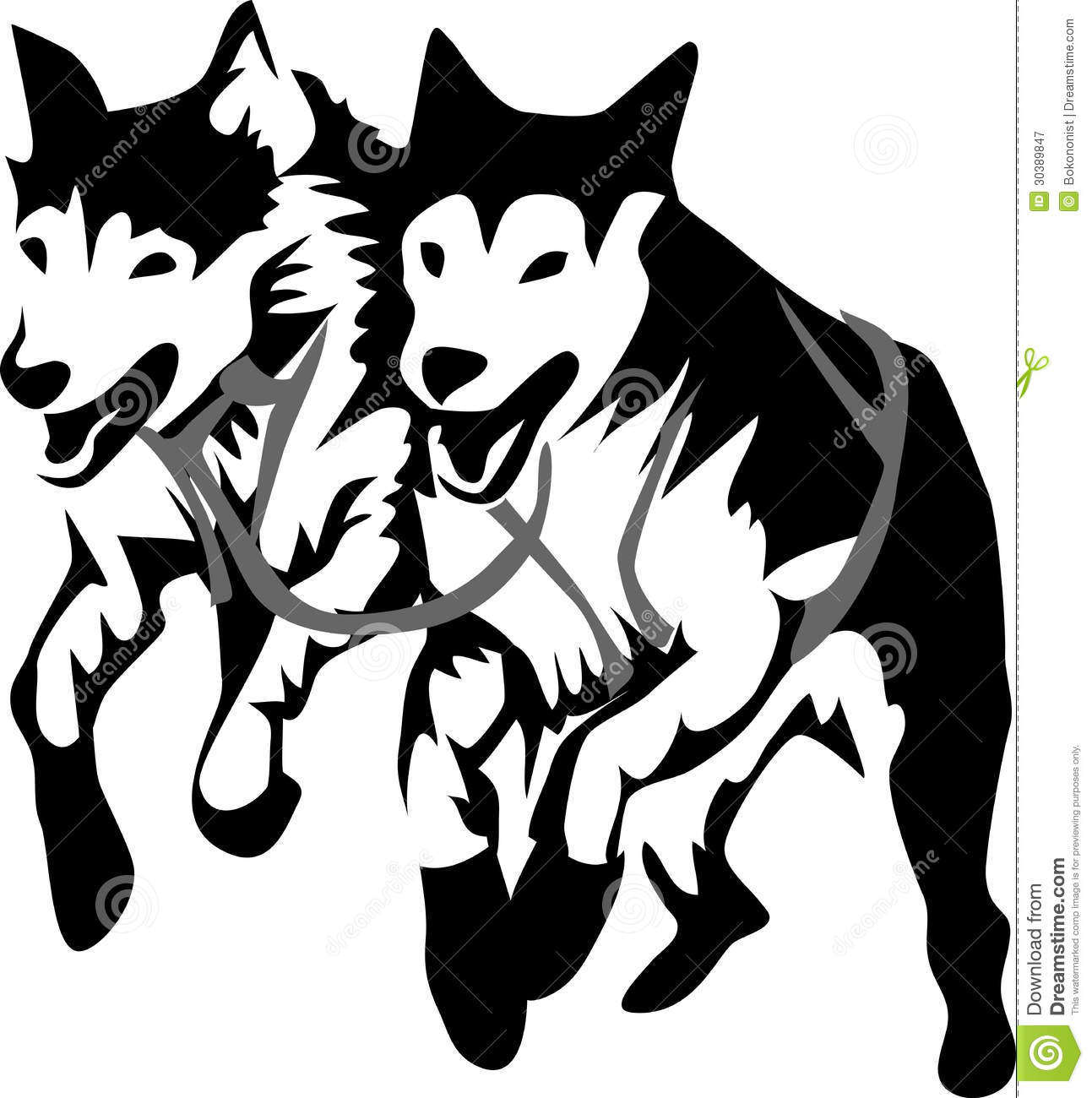 Iditarod Stock Illustrations.