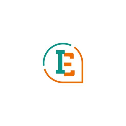 initial E, IE, I Logo template vector illustration icon.