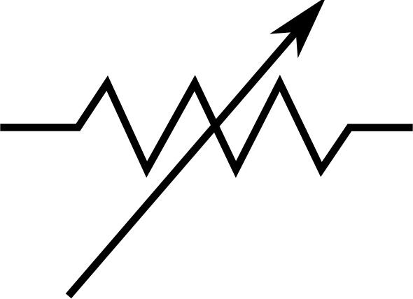 Rsa Iec Variable Resistor Symbol clip art Free vector in Open.