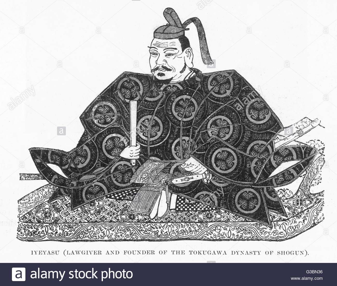 Tokugawa Ieyasu Japanese Shogun, Lawgiver And Founder Of The Stock.