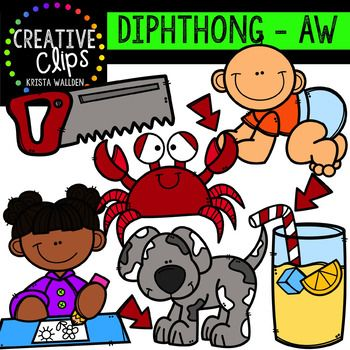 Diphthong Clipart: AW {Creative Clips Digital Clipart}.