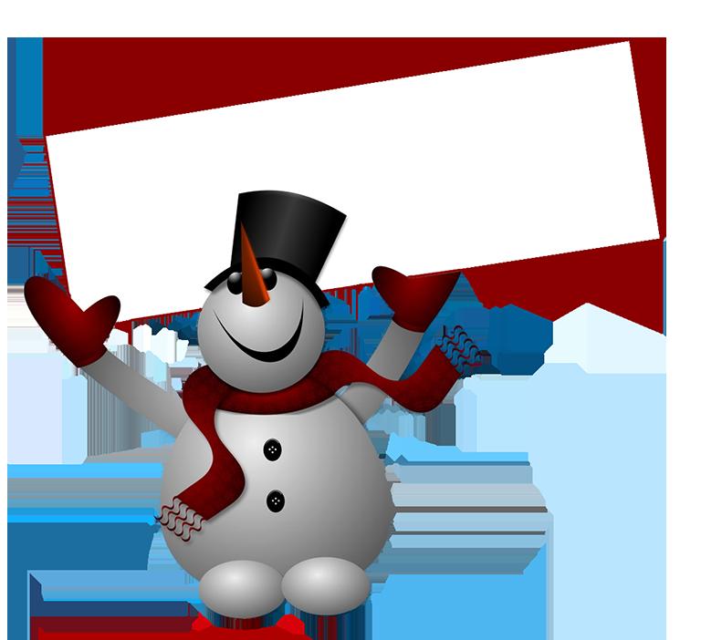 Snowman Skiing Cliparts.