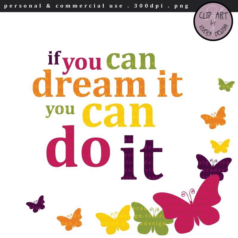 Inspirational Clip Art Digital Clipart If You Can #hWLbWS.